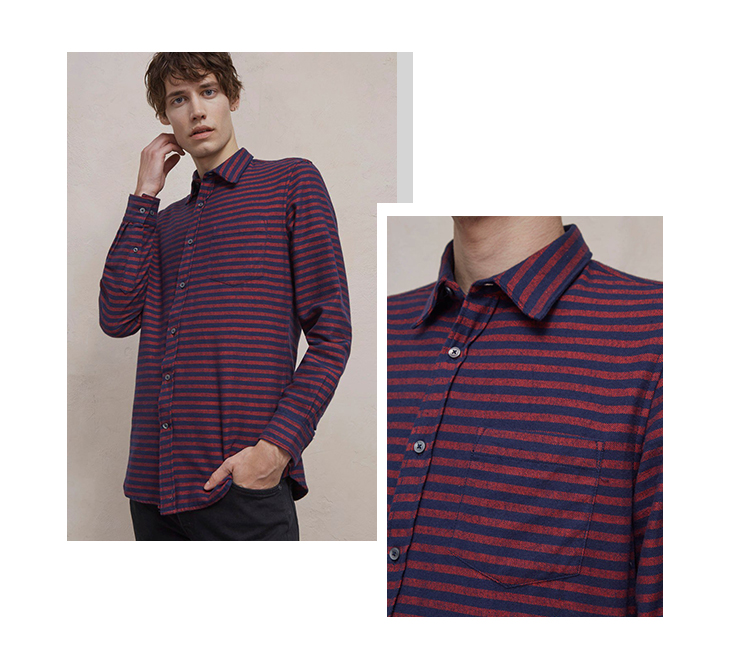Men's Flannel Striped Shirt