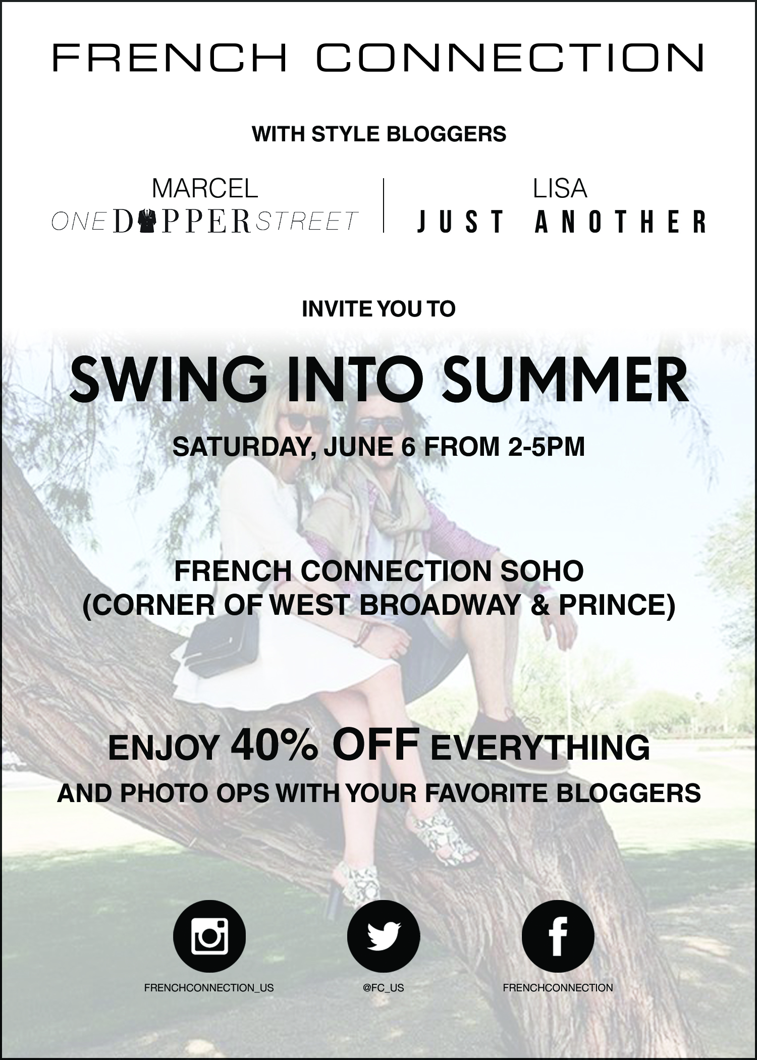 Swing into summer shopping event
