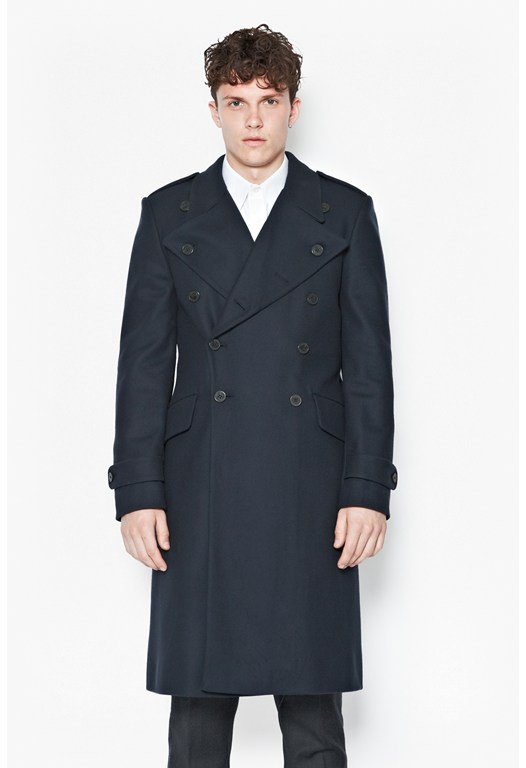 Restrained Cavalry Wool-Blend Coat