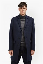 Looks Great With Melton Wool Tailored Coat