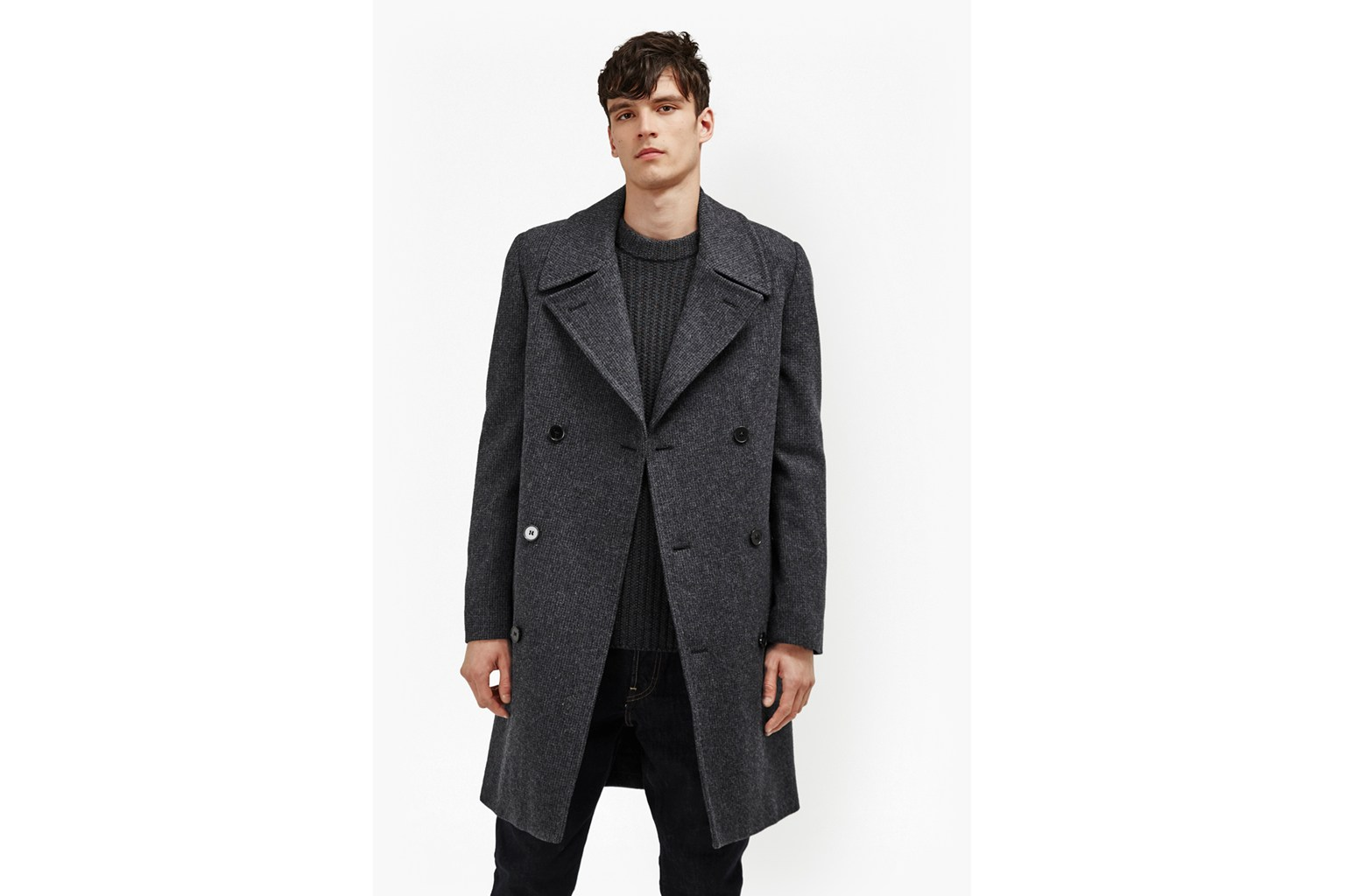 Drake Wool Double Breast Peacoat