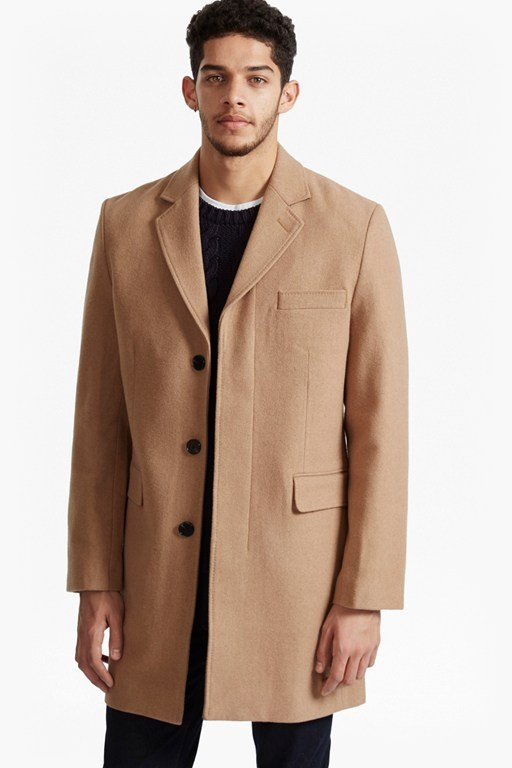 Complete the Look Marine Melton Tailored Coat