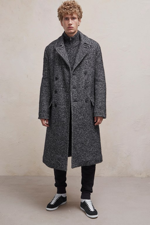 heavy herringbone coat