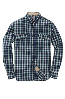 Celebes Indigo Checked Shirt
