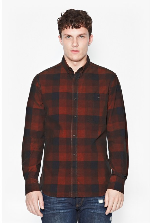 Clipped Cord Checked Shirt