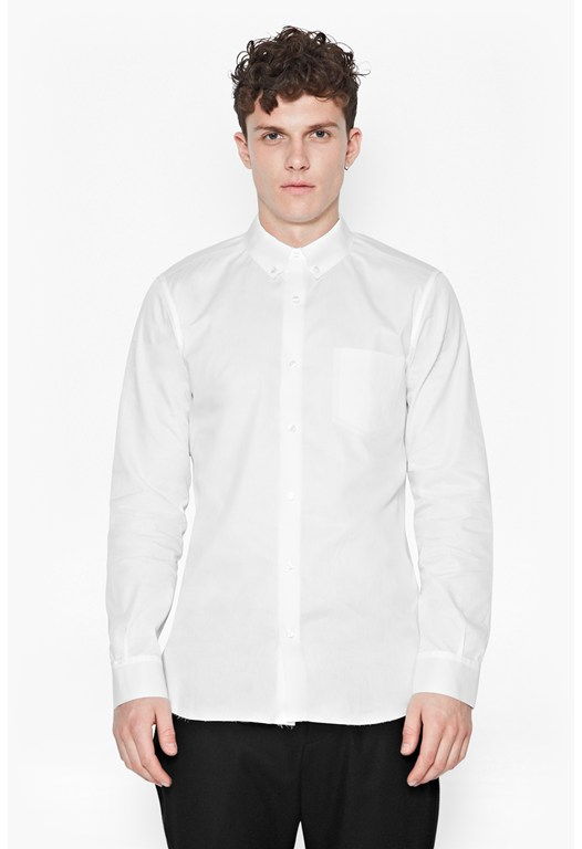 Reverse Raw Edge Shirt