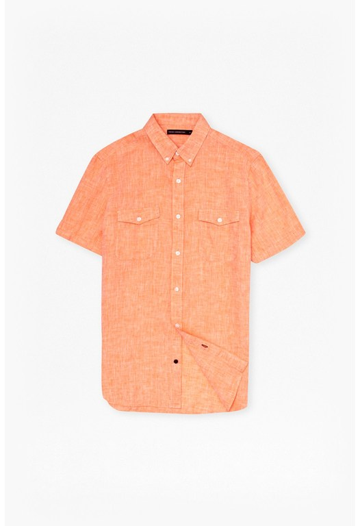 Linen Chambray Short Sleeve Shirt