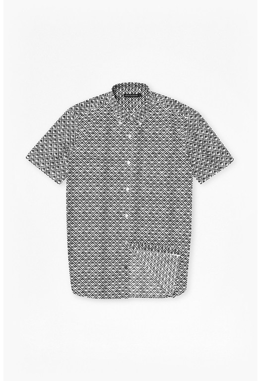 Simple Diamond Short Sleeve Shirt