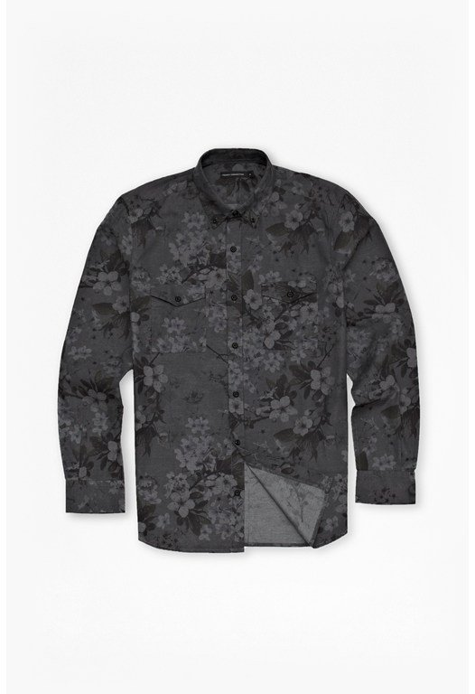 Blossom Print Oxford Shirt