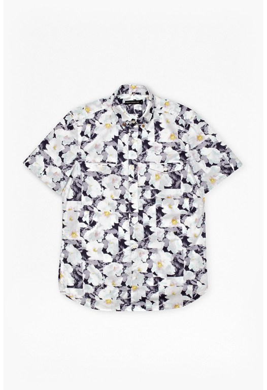 Vienot Rose Print Shirt