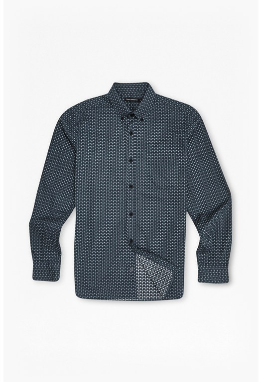 Blurred Overlay Checked Shirt