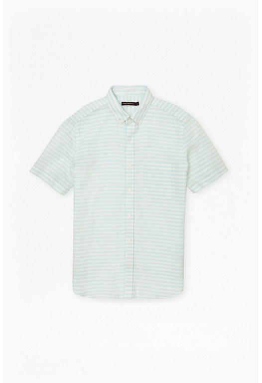 Fresh Linen Stripe Short Sleeves Shirt