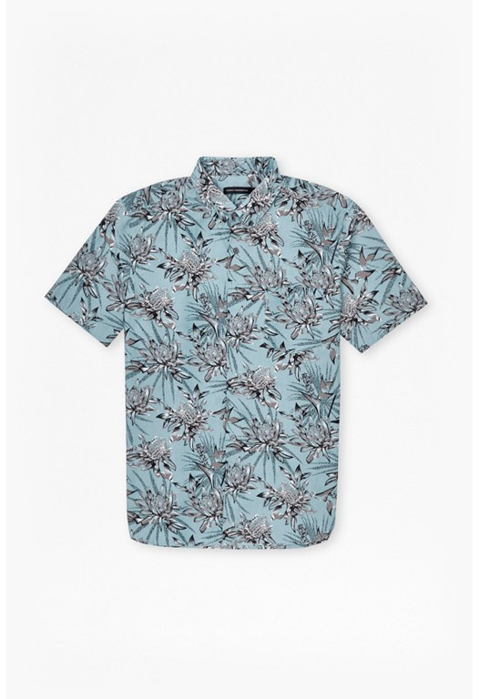 Koko Cotton Floral Short Sleeves Shirt