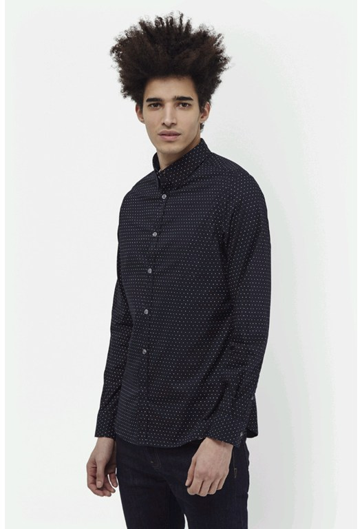 Mix Dot Hidden Contrast Shirt