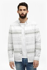Looks Great With Komatite Layered Stripe Shirt