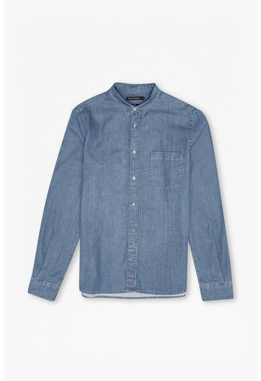 Winter Indigo Stretch Denim Shirt
