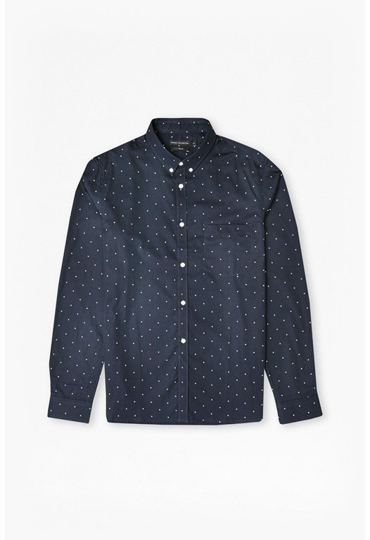 Winter Poplin Printed Shirt