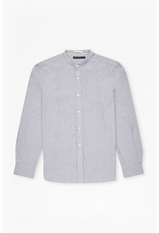 Stripe Grandad Collar Shirt