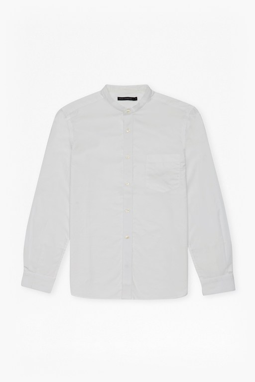 Complete the Look Solid Grandad Collar Shirt