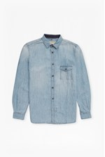Looks Great With Cotton Linen Denim Shirt