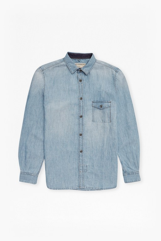 Complete the Look Cotton Linen Denim Shirt