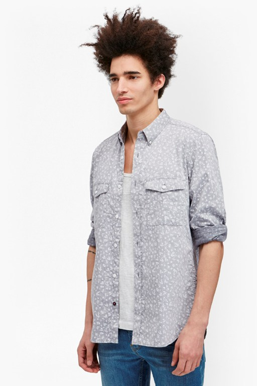 Complete the Look Driver Chambray Floral Shirt