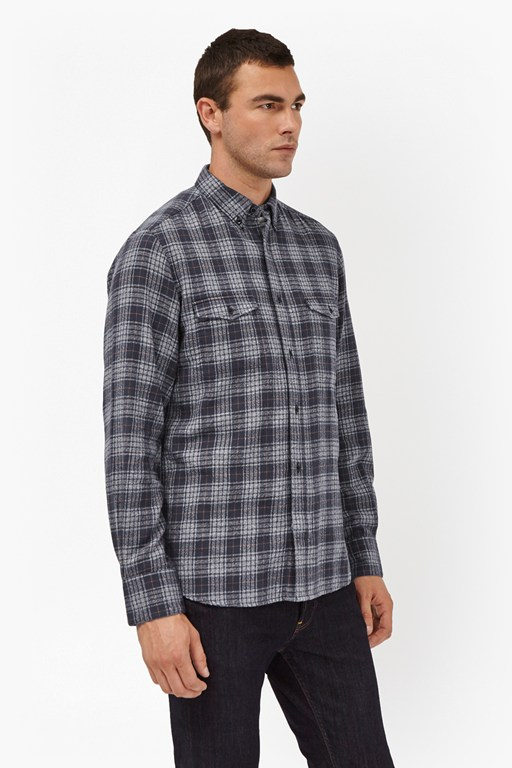 blue monday check shirt