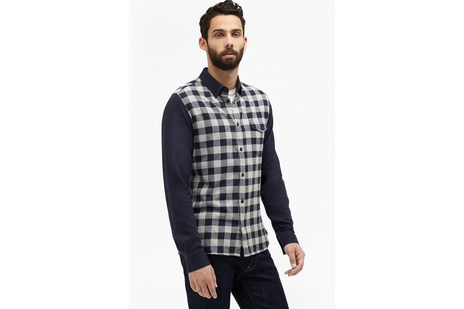 Pop Flannel Contrast Plaid Shirt