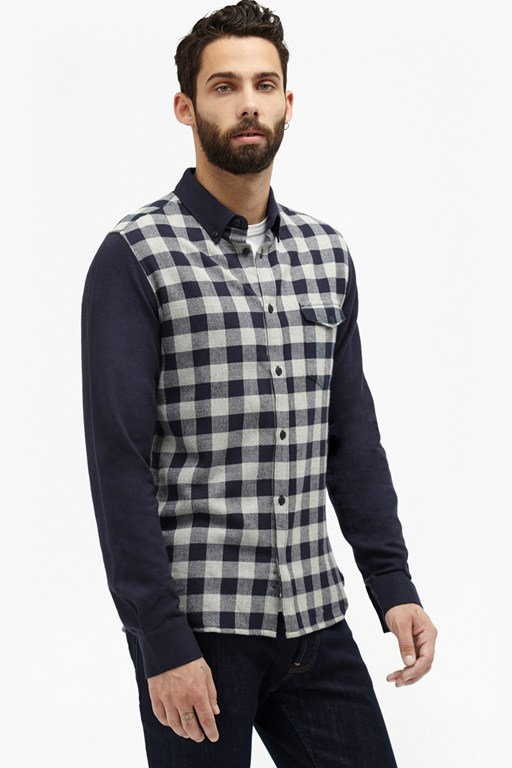 Complete the Look Pop Flannel Contrast Plaid Shirt