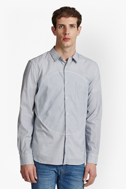 Spot Patch Stripe Shirt