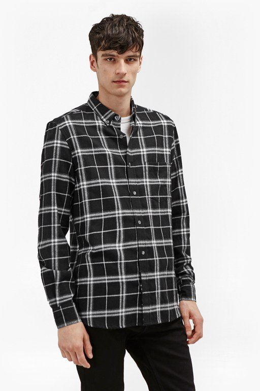 Complete the Look Black Check Shirt