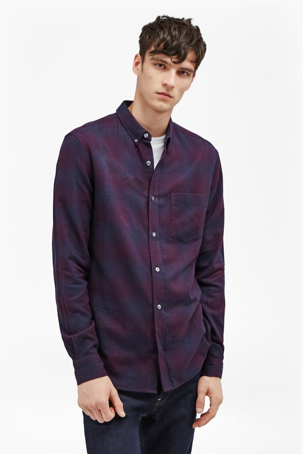 Potent Purple Flannel Shirt | Mens Sale | French Connection Usa