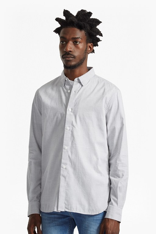 Complete the Look Horizontal Oxford Peached Striped Shirt
