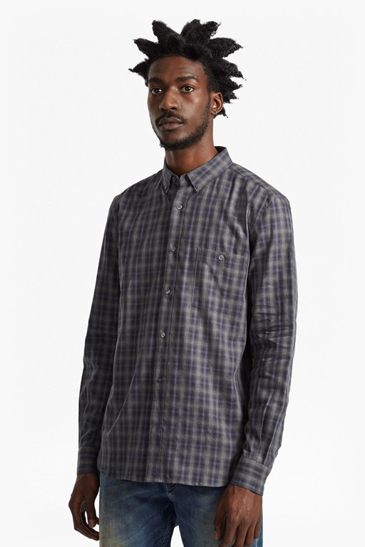 Complete the Look Lifeline Ombre Check Regular Fit Shirt