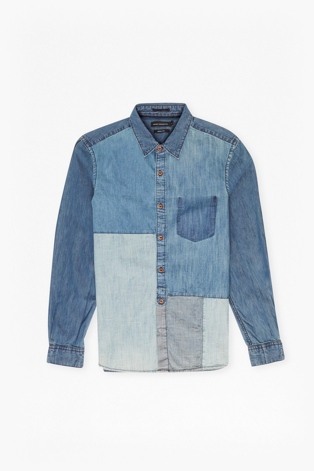 Antique Patchwork Indigo Shirt | Mens Sale | French Connection Usa