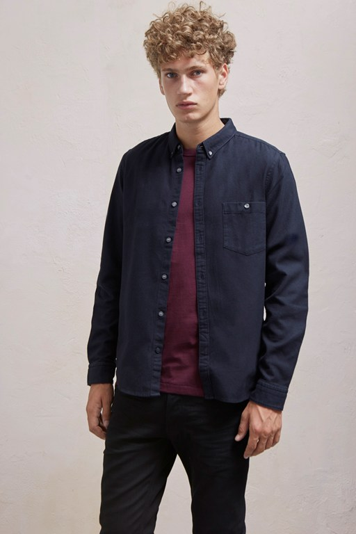 Complete the Look Classic Flannel Plain Shirt