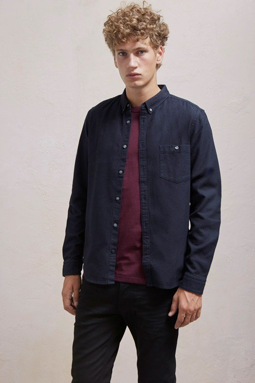classic flannel plain shirt