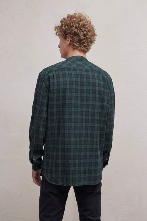 Complete the Look Worsted Checked Wool Shirt
