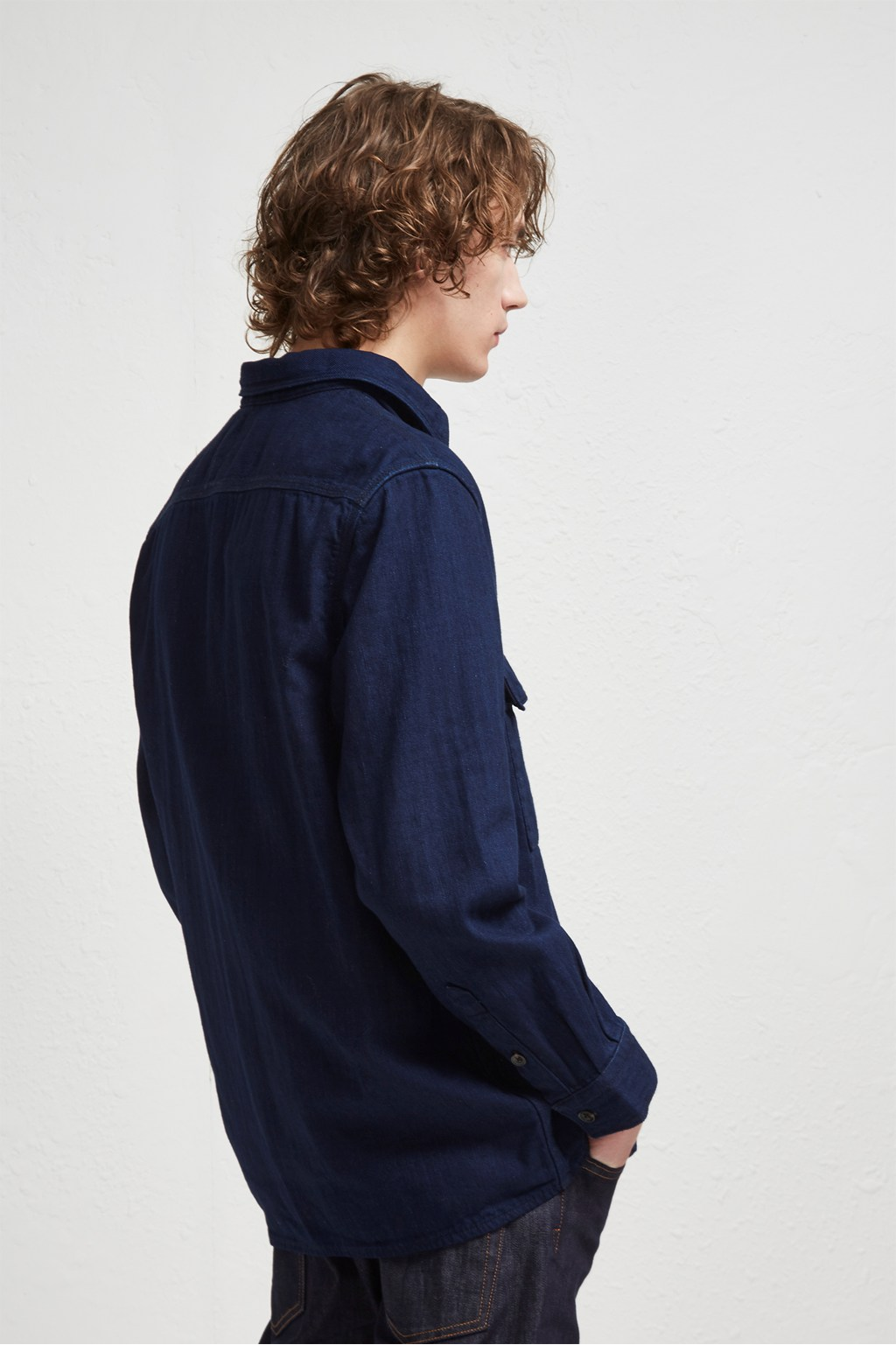 d63ad6f6e Double Indigo Chambray Shacket | Plaid Check Flannel Shirts | French ...