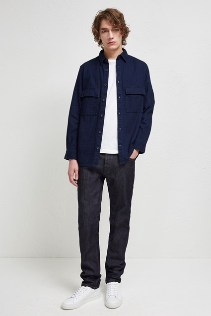 Double Indigo Chambray Shacket