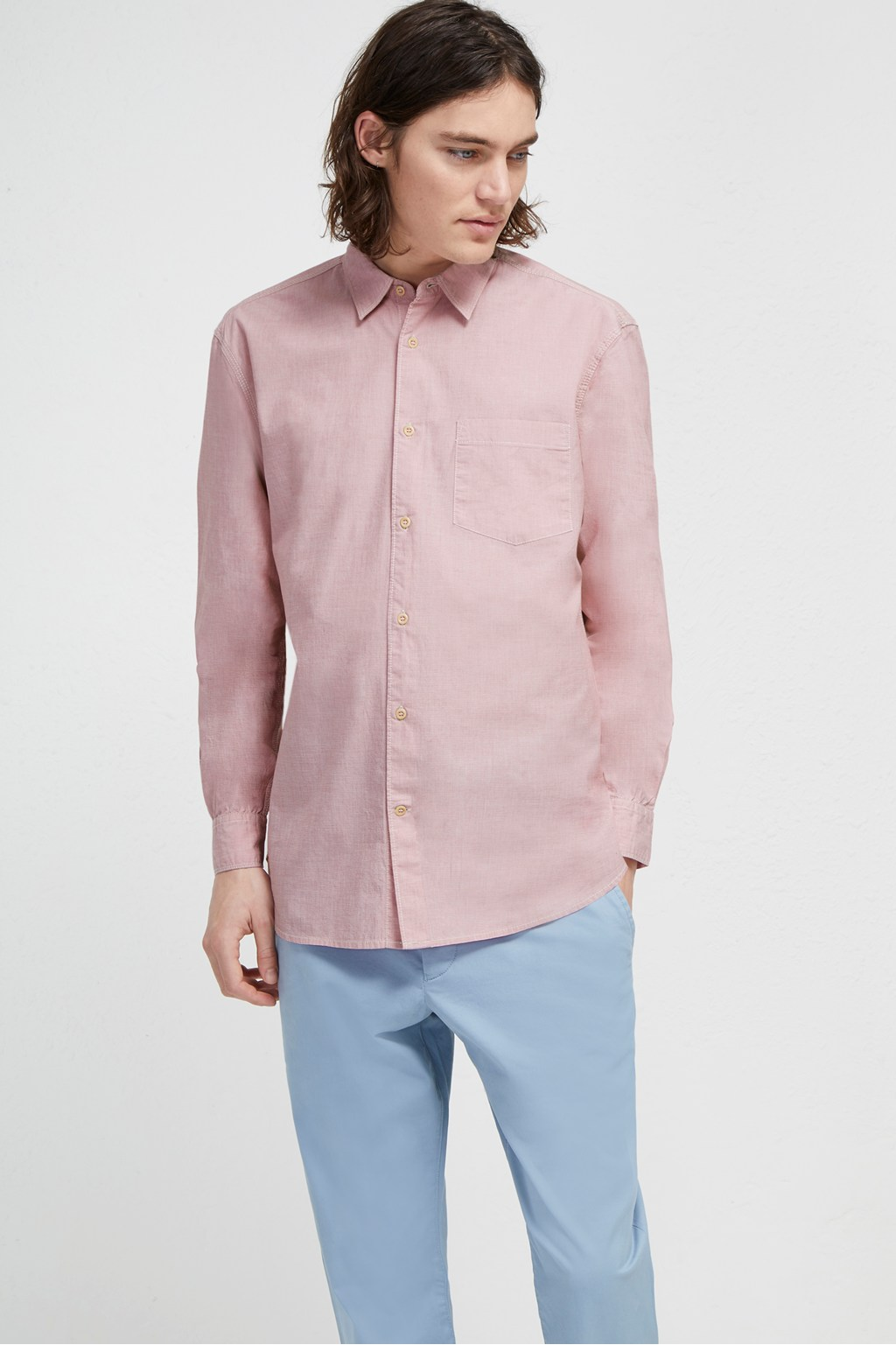7d0c7a513cb7 End On End Loose Collared Shirt | THE DATE NIGHT | French Connection Usa