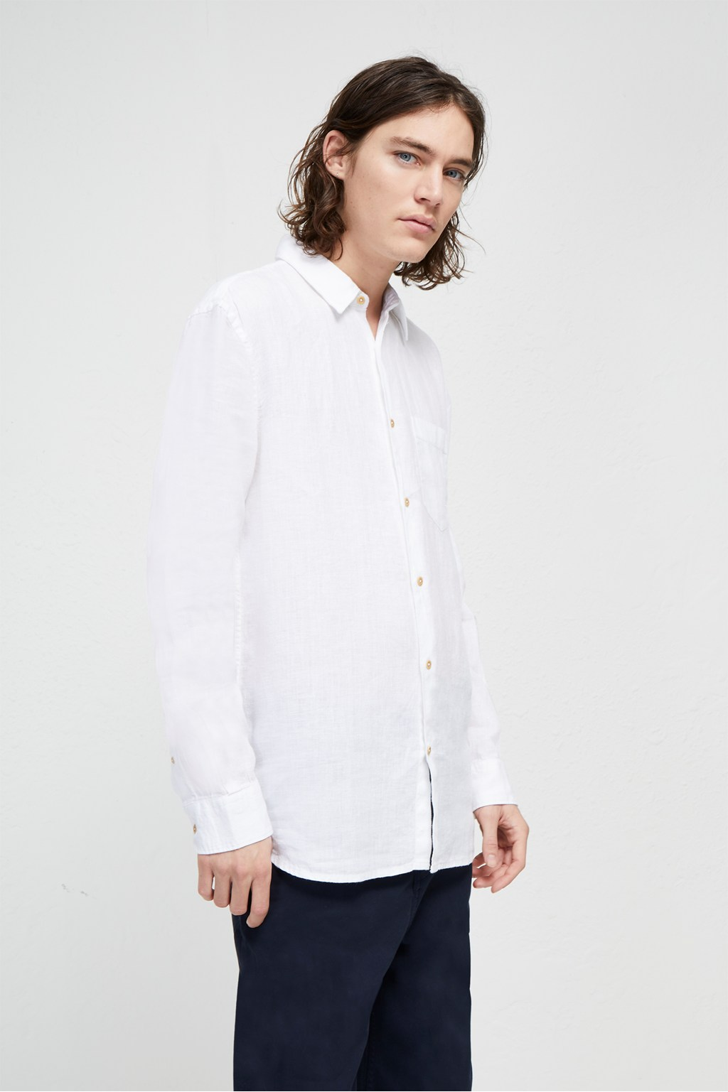 c7048afb003 Linen Chambray Shirt | Mens Sale | French Connection Usa