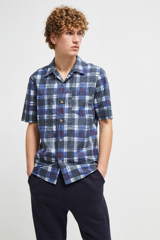 chabrol painted check shirt