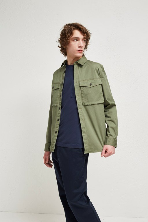 Complete the Look Military Broken Twill Shacket