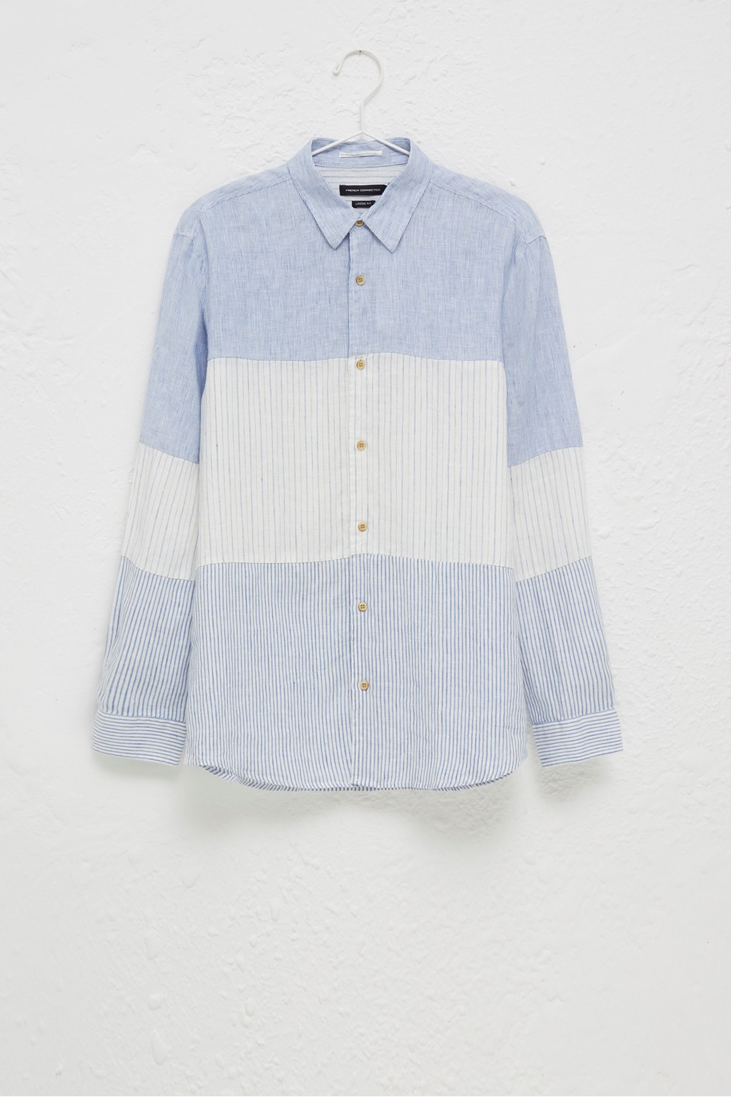 2168e209 Linen Chambray Stripe Shirt | Mens Sale | French Connection Usa