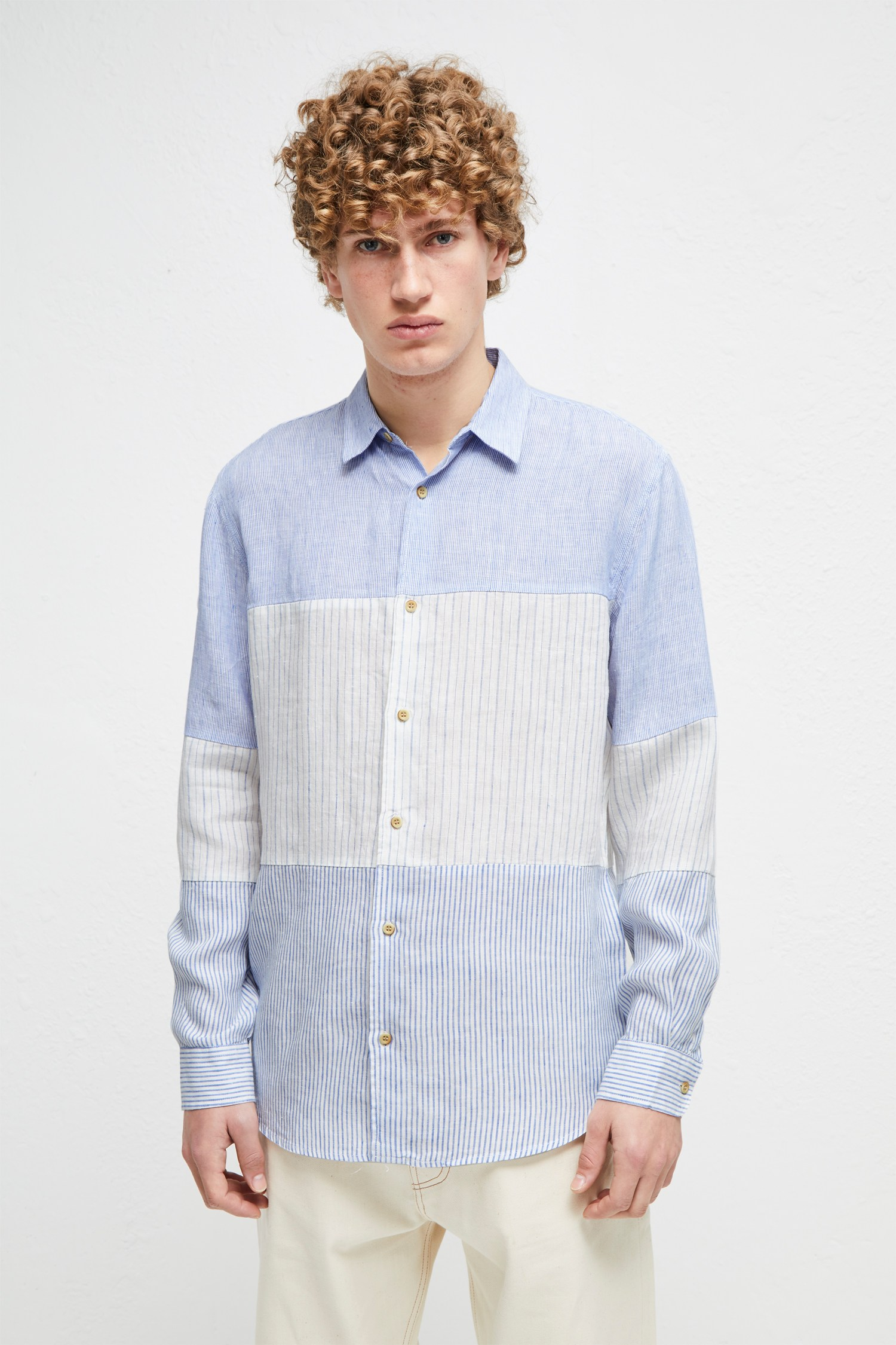 Linen Chambray Stripe Shirt