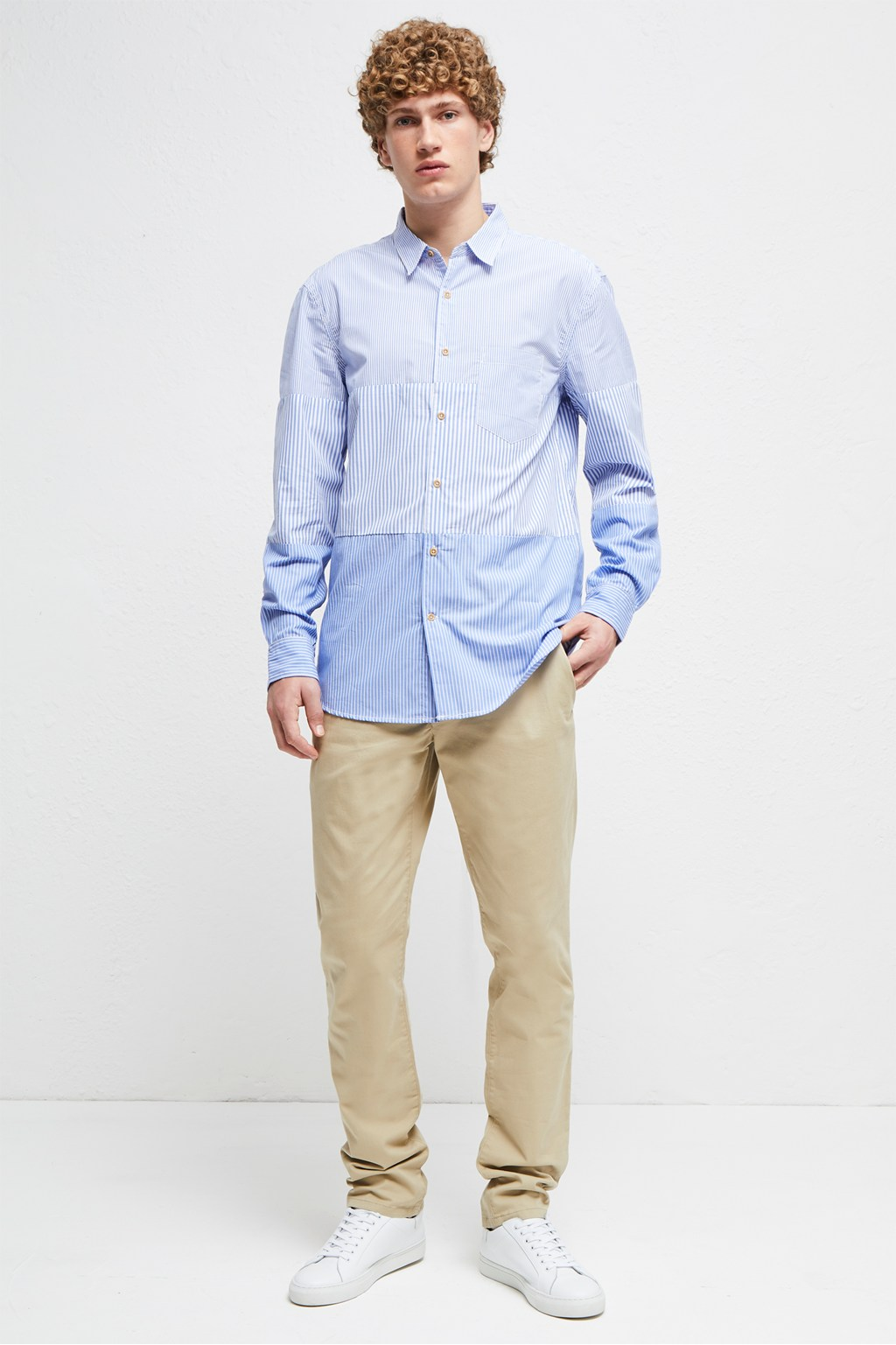 Horizontal Cut Panels Shirt Mens Sale French Connection Usa