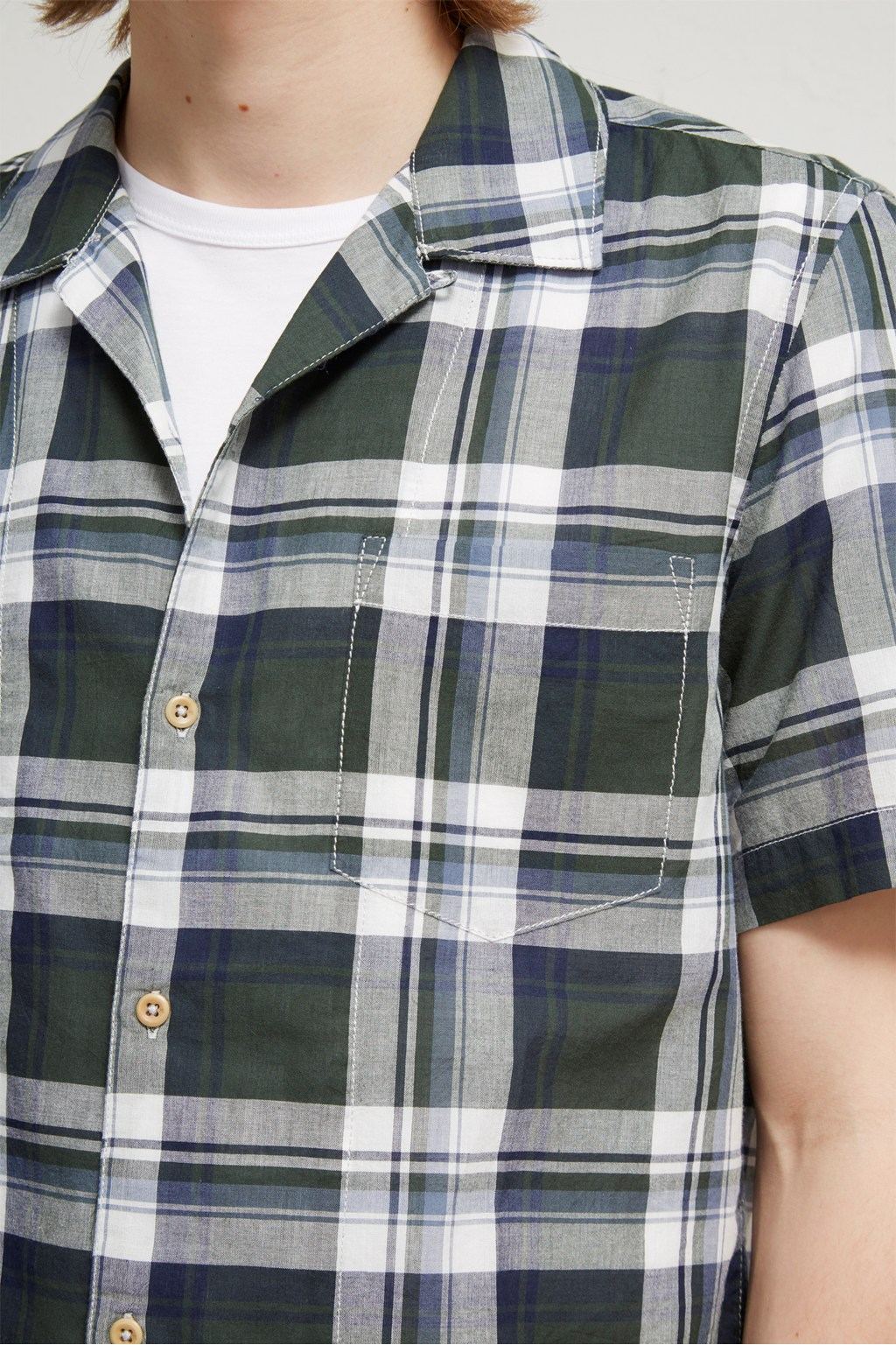 bcc615f12 Overwashed Lawn Check Shirt | Dress To Impress | French Connection Usa