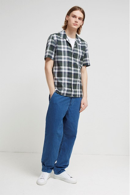 Overwashed Lawn Check Shirt