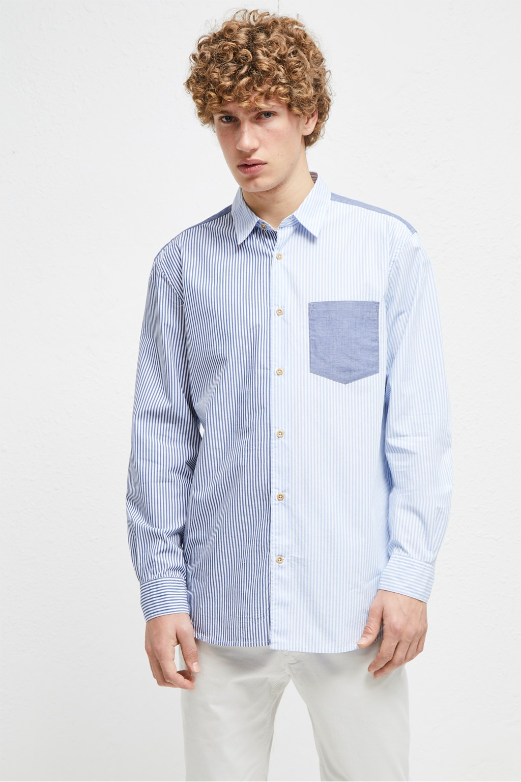 344dbbf1111 Patchwork Stripe Shirt | Best Sellers | French Connection Usa